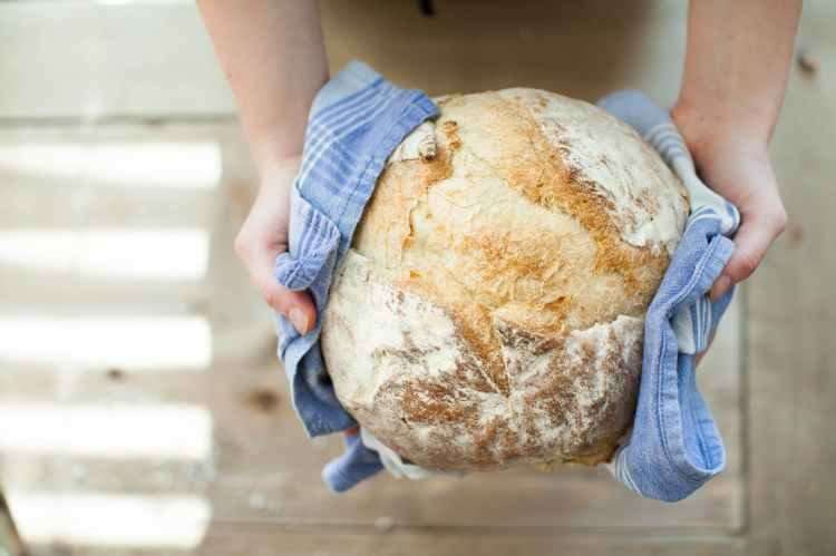 bread food fresh hands